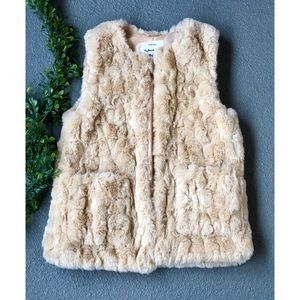 Zara Girls Faux Fur Vest (11/12)